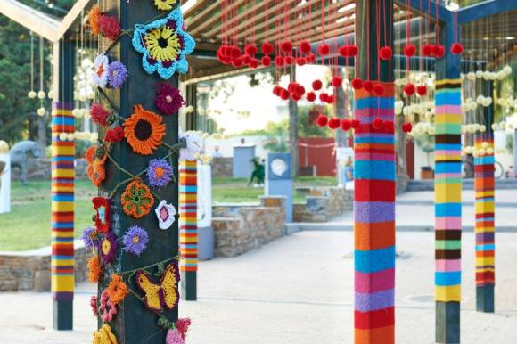 Yarn Bombing at Nea Smirni Park