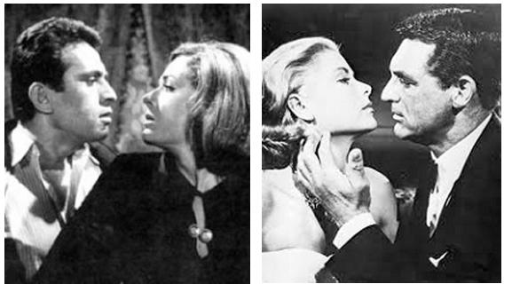 Μάρθα Βούρτση και Νίκος Ξανθόπουλος στο Απόκληροι της Κοινωνίας ,1964Grace Kelly and Cary Grant in To Catch a Thief, 1955