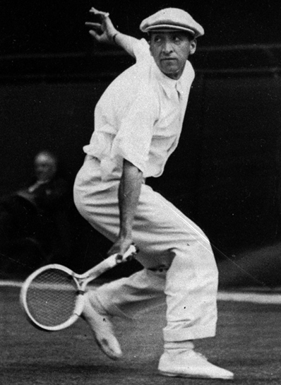René Lacoste  1930. He was the World No. 1 player for both 1926 and 1927. Photographed by  AP