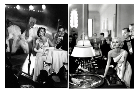 photo 1  Suzy Parker wearing Madame Gres gown 1957 - Richard Avedonphoto2   Richard Avedon. Suzy Parker and Robin Tattersall - Evening dress by Madame Gres, Moulin Rouge, Paris, August 1957