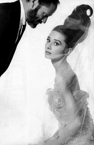 Mel Ferrer and Audrey Hepburn, 1963. She is wearing Givenchy, of course.