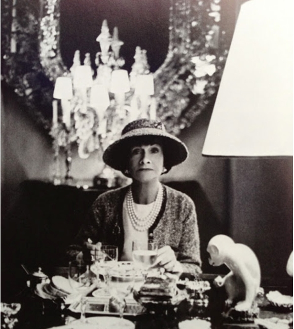 Coco Chanel photographed at her apartment in Paris by Horst. 1963