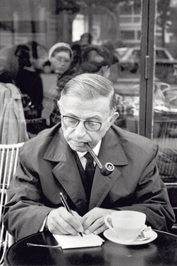 Philosopher Jean-Paul Sartre in Paris in the '60s. Getty Images
